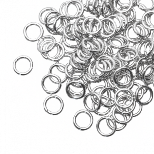 Jump Ring (6 mm) Antique Silver (100 pcs) Thick 1 mm