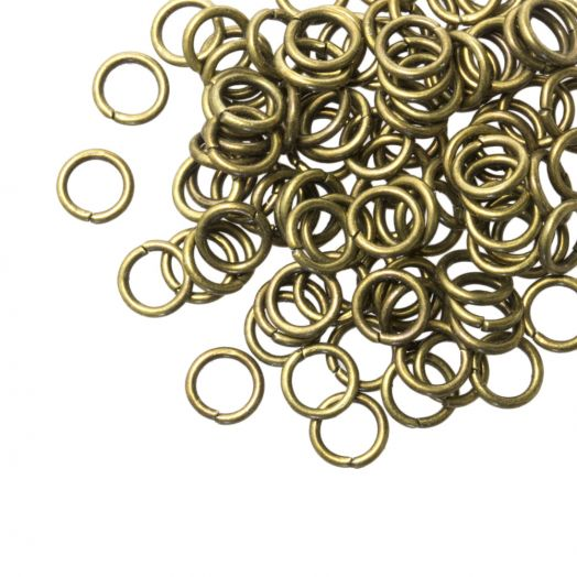 Jump Ring (6 mm) Bronze (100 pcs) Thick 1 mm