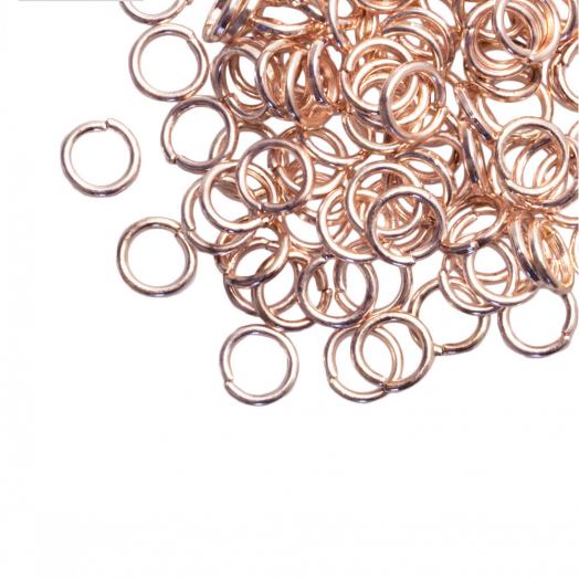 Jump Ring (6 mm) Rose Gold (100 pcs) Thick 1 mm