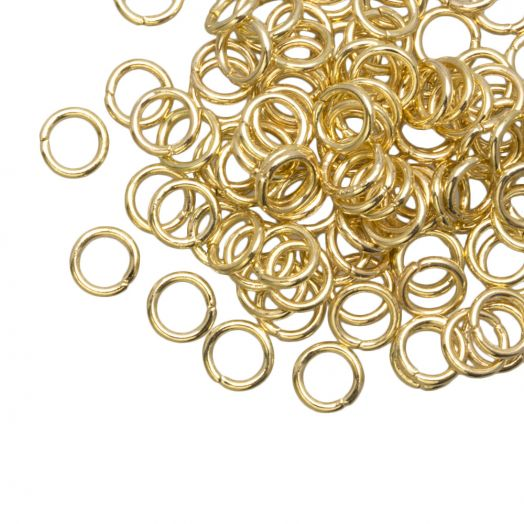 Jump Ring (6 mm) Gold (100 pcs) Thick 1 mm
