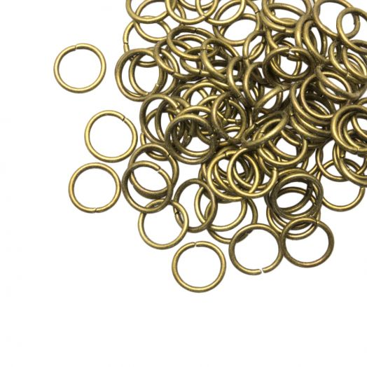 Jump Ring (8 mm) Bronze (100 pcs) Thick 1 mm