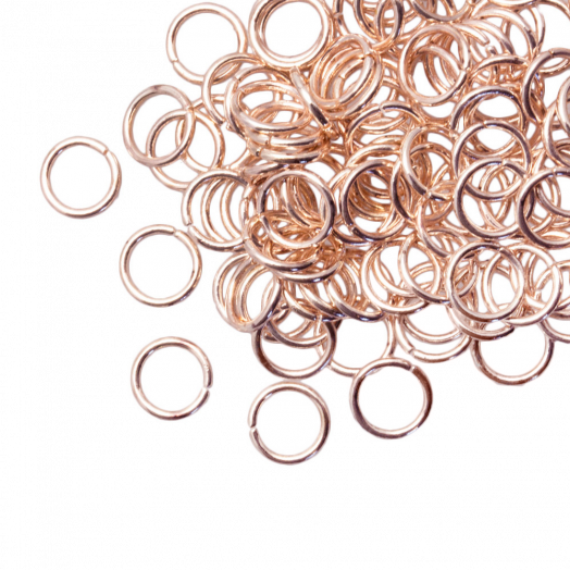 Jump Ring (8 mm) Rose Gold (100 pcs) Thick 1 mm