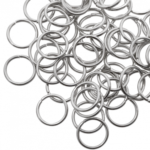 Jump Ring (10 mm) Antique Silver (100 pcs) Thick 1 mm