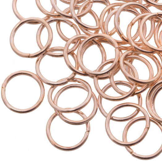 Jump Ring (10 mm) Rose Gold (100 pcs) Thick 1 mm