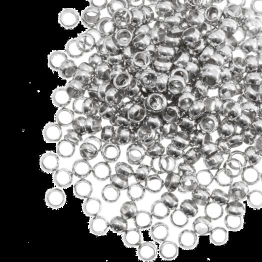 Crimp Beads (hole size 2.2 mm) Antique Silver (100 pcs)