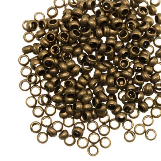 Crimp Beads (hole size 2.2 mm) Bronze (100 pcs)