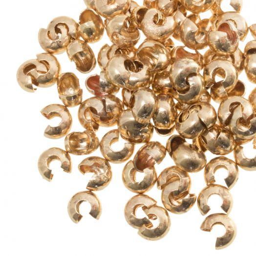 Crimp Beads Covers (4 mm) Gold (25 pcs)
