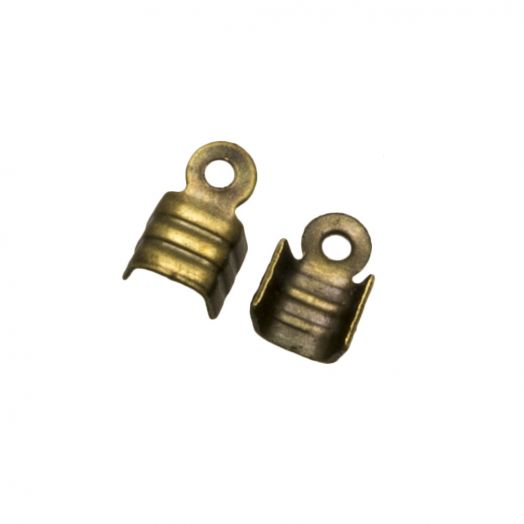 Cord Ends (fits 2 mm leather or 3 mm suede) Bronze (25 pcs)