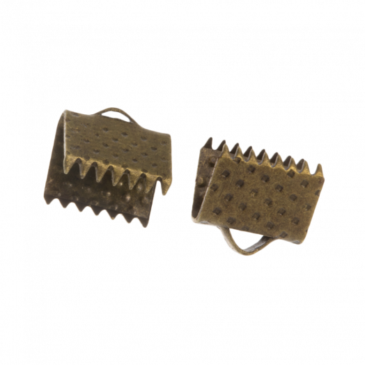 Ribbon End (8 mm) Bronze (20 pcs)