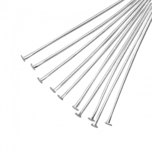 Head Pins (50 mm) Antique Silver (100 pcs)