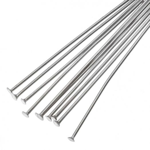 Stainless Steel Head Pins (35 mm) Antique Silver (100 pcs)