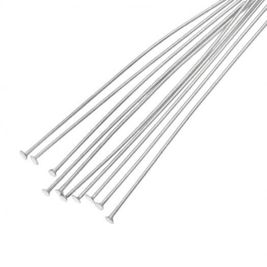 Stainless Steel Head Pins (50 mm) Antique Silver (100 pcs)