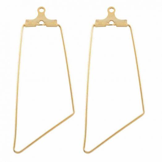 Stainless Steel Earring Frames (45 x 20 mm) Gold (6 pcs)