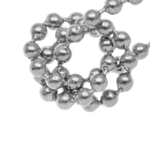 Stainless Steel Ball Chain (2 mm) Antique Silver (1 Meter)