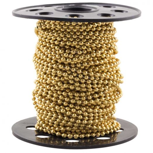 Stainless Steel Ball Chain (2 mm) Gold (20 Meter)