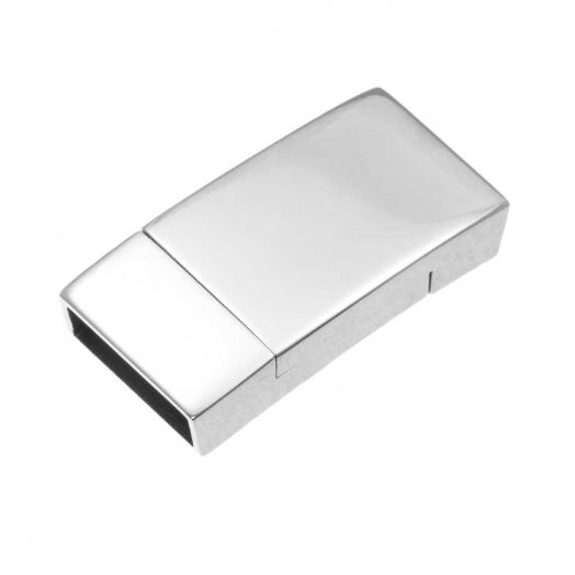 Stainless Steel Magnetic Clasps (hole size 10 x 2 mm) Antique Silver (1 pcs)