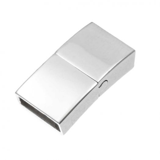 Stainless Steel Magnetic Clasps (hole size 10 x 3 mm) Antique Silver (1 pcs)