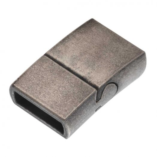Stainless Steel Magnetic Clasps Mat (hole size 10 x 3 mm) Gunmetal (1 pcs)