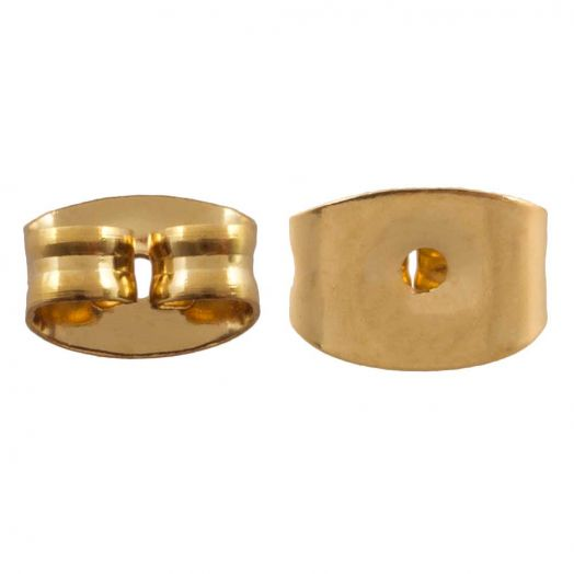 Stainless Steel Ear Studs Closure (Gold) 6 pcs