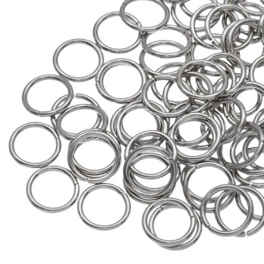 Stainless Steel Jump Rings (10 mm) Antique Silver (100 pcs) Thick 1.2 mm