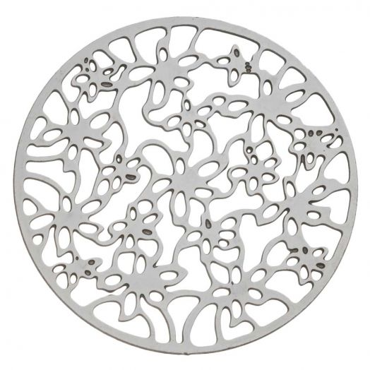 Stainless Steel Pendant (23mm) Antique Silver (15 pcs)