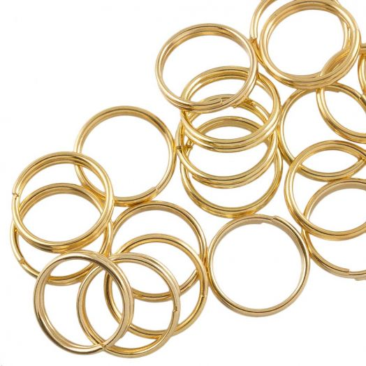 Stainless Steel Double Loops Split Rings (10 x 1.6 mm) Gold (100 pcs)