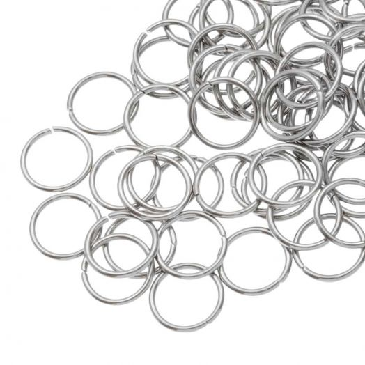 Stainless Steel Jump Rings (10 mm) Antique Silver (100 pcs) Thick 1 mm