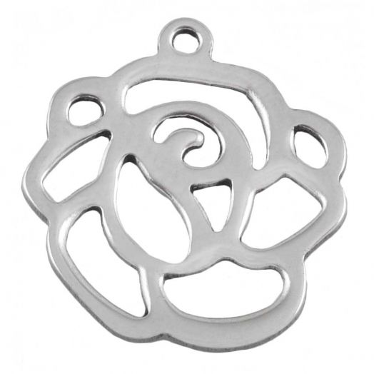 Stainless Steel Charm (16 x 14 mm) Antique Silver (25 pcs)