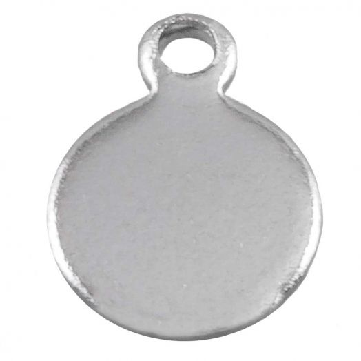 Stainless Steel Charm (9 x 7 mm) Antique Silver (50 pcs)