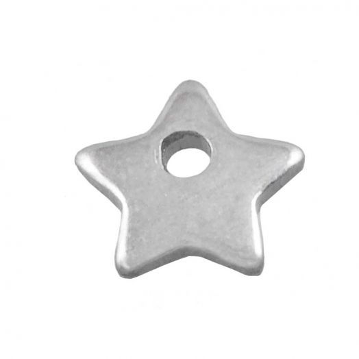 Stainless Steel Charm (6 x 6 mm) Antique Silver (50 pcs)