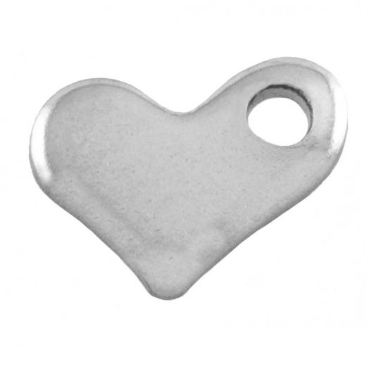 Stainless Steel Charm (7 x 5 mm) Antique Silver (50 pcs)