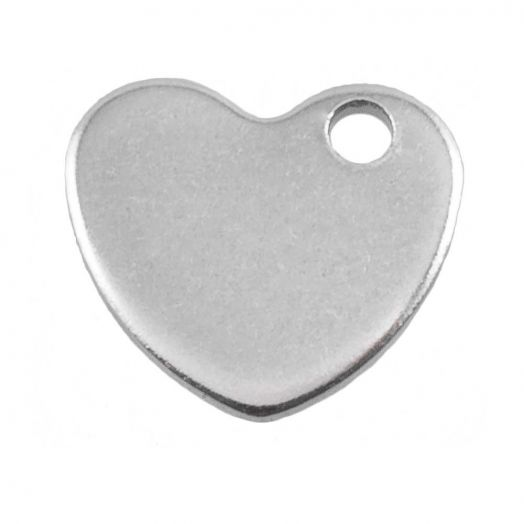 Stainless Steel Charm (10 x 9 mm) Antique Silver (50 pcs)