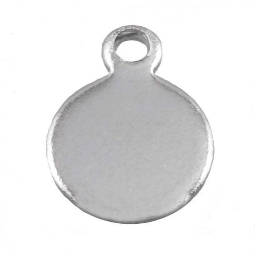 Stainless Steel Charm (7 x 5 mm) Antique Silver (100 pcs)