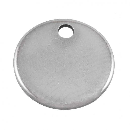 Stainless Steel Charm (8 mm) Antique Silver (100 pcs)