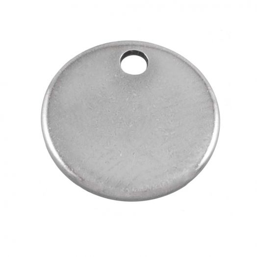 Stainless Steel Charm (7 mm) Antique Silver (100 pcs)