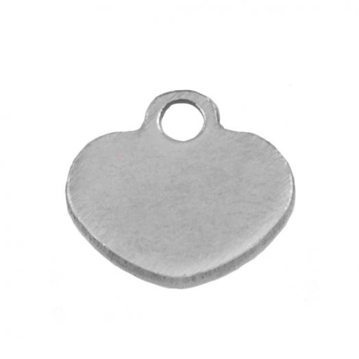 Stainless Steel Charm (6 x 6 mm) Antique Silver (100 pcs)