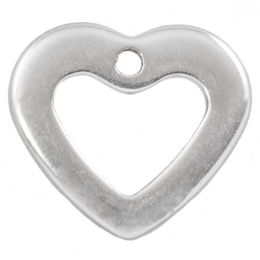 Stainless Steel Charm (11 x 10 mm) Antique Silver (100 pcs)