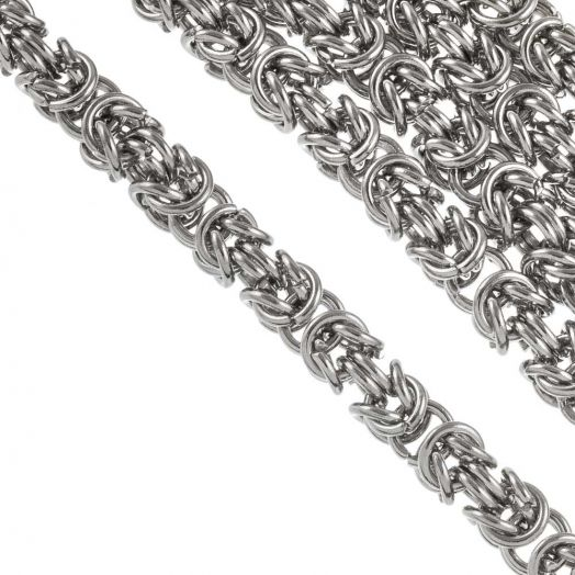 Stainless Steel Rolo Chain (6 mm) Antique Silver (1 Meter)