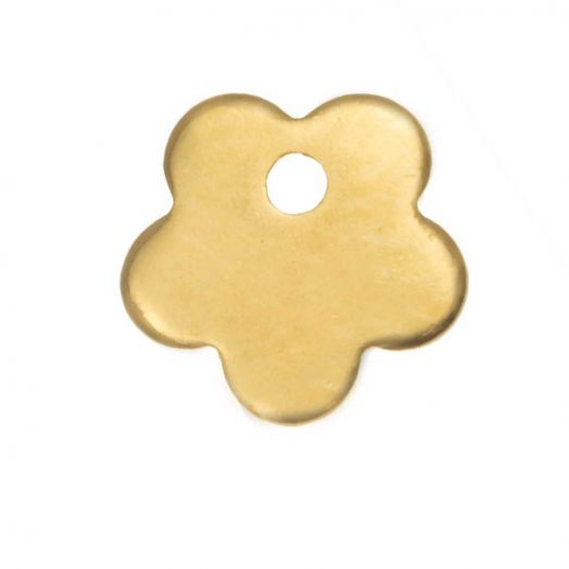 Stainless Steel Charm Flower (7 x 7 mm) Gold (25 pcs)